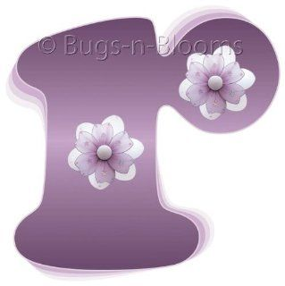 """""""r"""" Purple Daisy Flower Alphabet Letter Name Initial Wall Sticker   Decal Letters for Children's, Nursery & Baby's Room Decor, Baby Name Wall Letters, Girls Bedroom Wall Letter Decorations, Child's Names. Flowers Mural Walls Decal"""