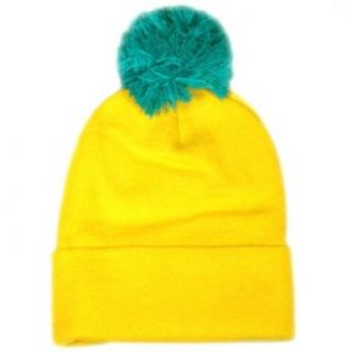City Hunter Sk961 Neon 2 Tone Pom Beanie (Neon Yellow/blue pom) at  Men�s Clothing store