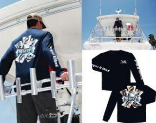 Fullboat Long Sleeve Fishing & Outdoors T Shirt (XXL, Navy Blue) at  Men�s Clothing store