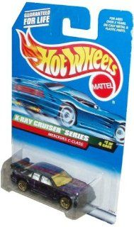 Mattel Hot Wheels 1998 X Ray Cruiser Series 164 Scale Die Cast Metal Car # 1 of 4   Purple Luxury Sedan MERCEDES C CLASS with Spoiler (Collector # 945) Toys & Games