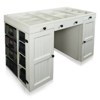 Craft storage drawers on popscreen - Craft desk with storage ...