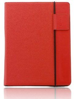 "splash RAINDROP Leather Case Cover for iPad 3 ""The New iPad"" 3rd Generation & iPad 2 (RED)   includes Glider Stylus and Masque Screen Protective Film: Computers & Accessories"