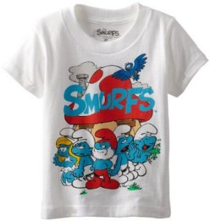 Smurfs Boys 2 7 Group Tee Toddler: Clothing