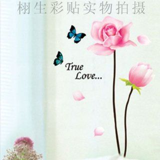 Flower Butterfly Wall Sticker Decals LY972   Wall Decor Stickers