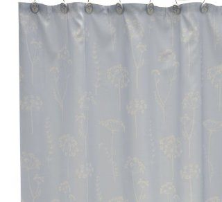 Waverly by Famous Home Fashions Simplicity Blue Shower Curtain   Shower Curtain Light Blue Liner Hookless