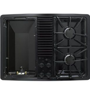 General Electric Profile PGP990DENBB   GE Profile(TM) Built In Downdraft Gas Modular Cooktop: Appliances