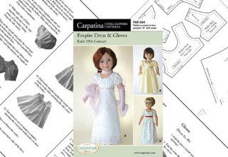 """Pattern for Empire Dress Paper   fits 18"""" American Girl Dolls Toys & Games"""