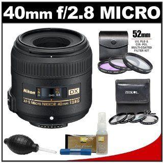 Nikon 40mm f/2.8 G DX AF S Micro Nikkor Lens plus 7 UV/FLD/CPL and Close up Filters plus Nikon Cleaning Kit for D7000, D5100, D5000, D3100, D3000, D90, D300s Digital SLR Camera  Camera And Camcorder Lens Bundles  Camera & Photo