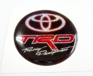 "1x 1.9"" Resin Round Circle TRD Racing Toyota Prius Vios Yaris Fortuner Camry car motocross racing emblem logo sticker decal"