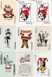9 different Playing Card Jokers : Other Products : Everything Else