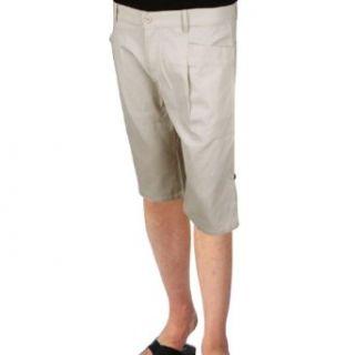 Azzuro Mens Natural Waist Two Big Pockets Design Front Casual Shorts at  Men�s Clothing store
