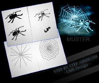 "Step by Step Airbrush Stencil Template AS 046 L ca. 9, 05"" x 6, 30"""