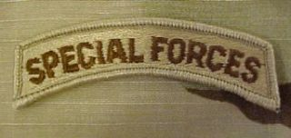 Special Forces Tab   SEW ON (DCU (Desert)): Clothing