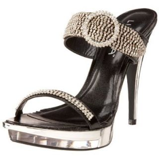 Liliana Women's Shine Dress Sandal,Black,7 M US: Shoes