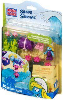 The Smurfs Mega Bloks Set #10738 Snorkeling Smurfette: Toys & Games