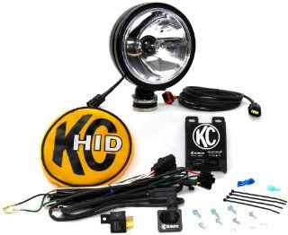 KC HiLiTES 1661 Daylighter Black 50w HID Spot Beam   Single Light Kit w/ Cover: Automotive