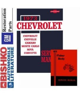 1973 Chevrolet Camaro Corvette Shop & Body Service Repair Manual CD Engine Automotive