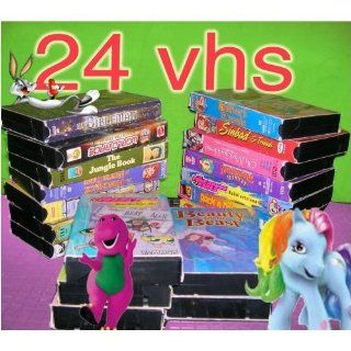 set movies 24 vhs movies for kids entertainment, educational: The Powerpuff Girls   Meet The Beat Alls, robin hood, Anastasia Sing Along , raggedy ann, Babymugs!, Goodnight Moon , cinderella, tales & tunes, The Smothers Brothers:Yo Yo Man , Cartoons R