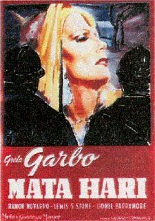 HUGE LAMINATED / ENCAPSULATED Mata Hari Italian Film POSTER measures approximately 100x70 cm Greatest Films Collection Starring Greta Garbo, Ramon Novarro, Lionel Barrymore.   Prints