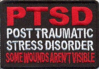 PTSD Some Wounds Aren't Visible Embroidered Military Veteran BIKER Vest Patch!!!: Everything Else