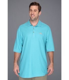 Tommy Bahama Big & Tall Big Tall Emfielder Polo Shirt Mens Short Sleeve Pullover (Blue)