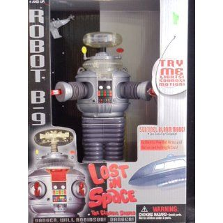 """Classic Lost In Space B9 ROBOT Electronic light, sound, & Motion 10"""" Action Figure (1997 Trendmasters) Toys & Games"""