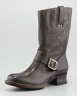 Frye Martina Engineer Short Boot, Gray