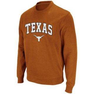Texas Longhorns Youth Arch Logo Crew Sweatshirt   Burnt Orange