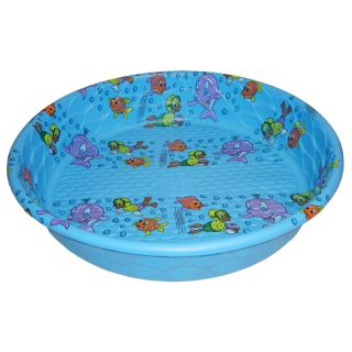 Summer Escapes Poly Pool 59 in L x 59 in W Laminated Polyethylene Round Kiddie Pool