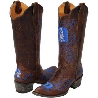 Gameday Duke Blue Devils Ladies Cowboy Boots   Brown