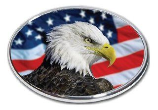 """American Eagle Flag   2"""" Hitch Receiver   3/8 Inch Thick High Grade Aluminum   American Bald Eagle Flag 3   Size 4"""" X 6"""" Automotive"""