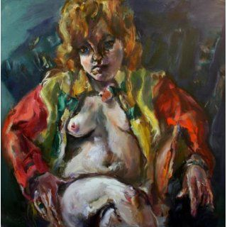 Art: Model In Jockey Silks : Oil : Raoul Middleman