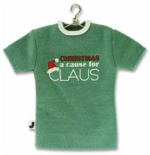 EK Success Mini T Shirt Embellishment A CAUSE FOR CLAUS (Christmas) For Scrapbooking, Card Making & Craft Projects