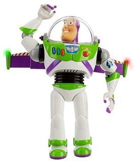 Press Button To Hear 15 Different Phrases Featuring The Real Voice Of Buzz Lightyear Including ''No Back Talk I Have A Laser And I Will Use It'' And ''Stand Back Everyone'' And ''Everyone Take Cover''   Di