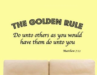 The Golden Rule   Do Unto Others as You Would Have Them Do Unto You   Matthew 712 Bible Scripture Christian Vinyl Wall Art Quote   Wall Decor Stickers