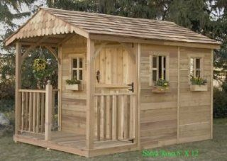 Outdoor Living Today Santa Rosa Wood Shed 8x12  Dog Houses