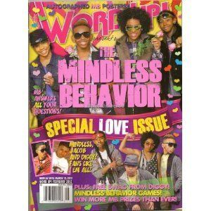 Word Up Mindless Behavior   Special Love Issue Magazine (February 2012)   Contains 12 Posters (Front & Back)   MB   Newsstand Edition (No Address Label) Word Up Magazine Books