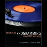 Prelude to Programming   With CD