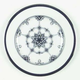Lenox China ArchitectS Table Salad Plate, Fine China Dinnerware   Black & Plati
