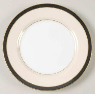 Fitz & Floyd Montmartre Black Bread & Butter Plate, Fine China Dinnerware   Blac