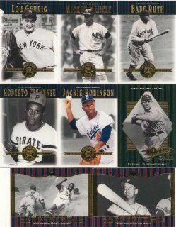 2001 Upper Deck Hall of Famers Baseball Series Complete Mint Hand Collated 90 Card Set. Loaded with Stars and Hall of Famers Including 3 Different Mickey Mantle Cards, 3 Joe Dimaggios, 3 Nolan Ryans, 2 Willie Mays, Babe Ruth, Hank Aaron, Tom Seaver, Robert