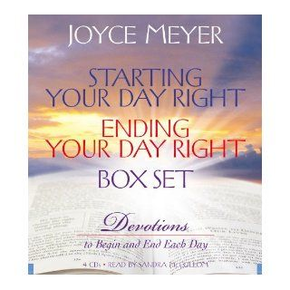 Starting Your Day Right/Ending Your Day Right Box Set: Devotions to Begin and End Each Day: Joyce Meyer, Sandra McCollom: 9781600240959: Books