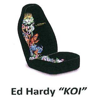 Ed Hardy KOI Fish Seat Cover 1 PC Automotive