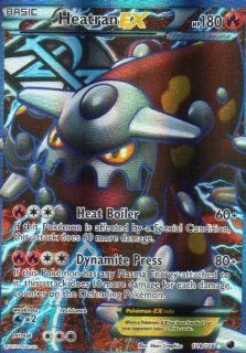 Heatran  EX Full Art Ultra Rare 111/116 Pokemon Plasma Freeze Single Trading Card: Everything Else
