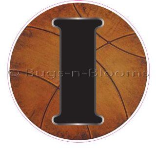 """""""I"""" Basketball Alphabet Letter Name Wall Sticker (5 1/2"""" Diameter)   Decal Letters for Children's, Nursery & Baby's Sport Room Decor, Baby Name Wall Letters, Boys Bedroom Wall Letter Decorations, Child's Names. Sports Balls M"""