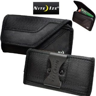 Samsung Galaxy Victory 4G Nite Ize Heavy Duty Black Horizontal Cargo Wallet Nylon Storage Case with Velcro Closure. Big Enough to Carry your phone with the Otterbox Defender Case on it. Inside Extra Storage Pocket. Cell Phones & Accessories