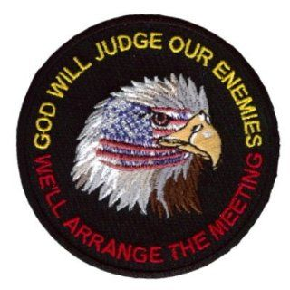 GOD WILL JUDGE OUR ENEMIES EAGLE VET FLAG Biker Patch!!: Everything Else