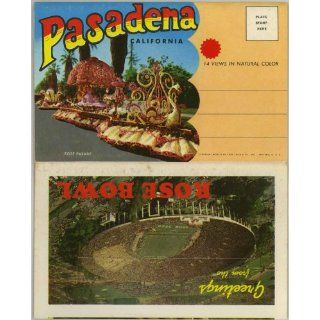 Pasadena California (1950's Souvenir Postcard Folder) Mary Chesrown, Rose Bowl Books