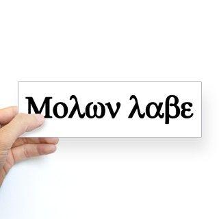 Molon Labe! Bumper Sticker by trackemdown
