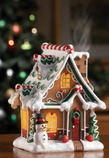 Collections Etc   Smoking Christmas Gingerbread House Incense Burner   Incense Holders